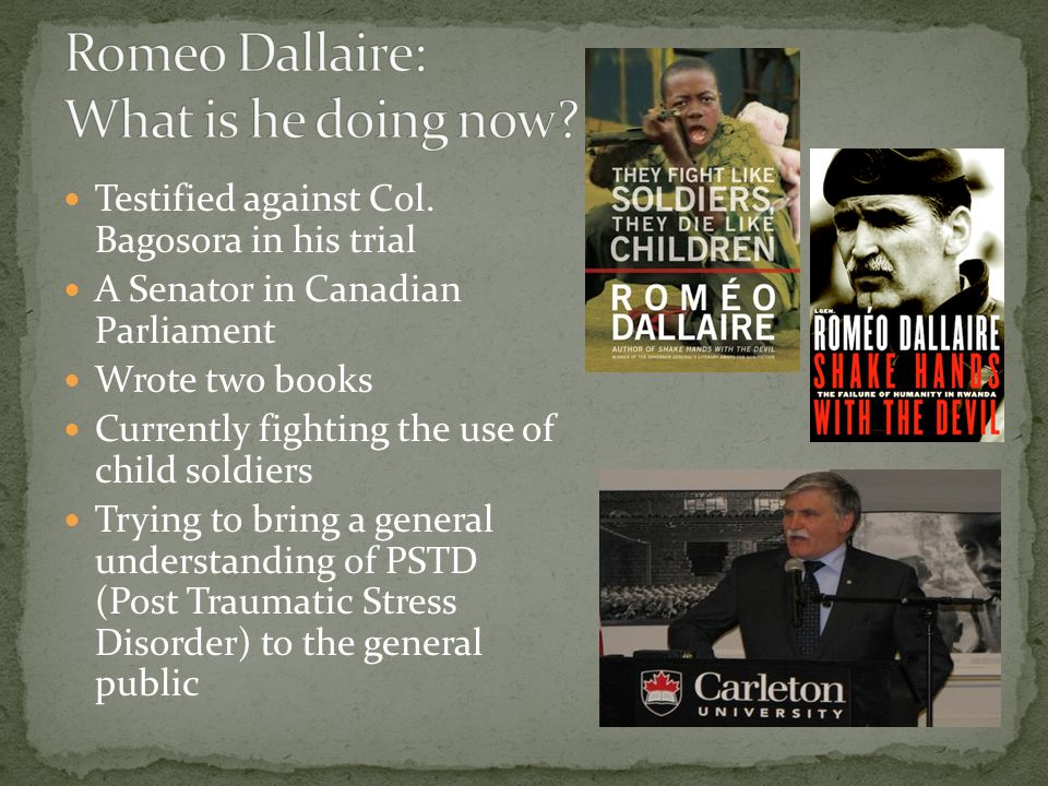 Romeo Dallaire: What is he doing now