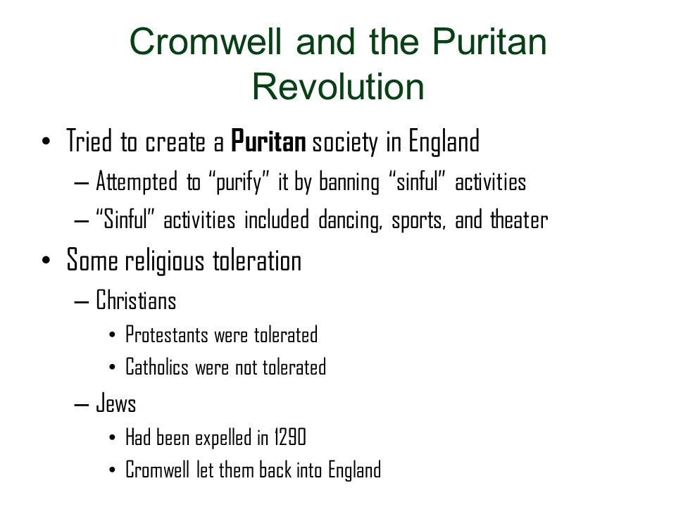 Cromwell and the Puritan Revolution