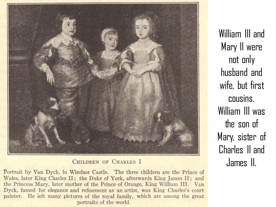 William III and Mary II were not only husband and wife, but first cousins.