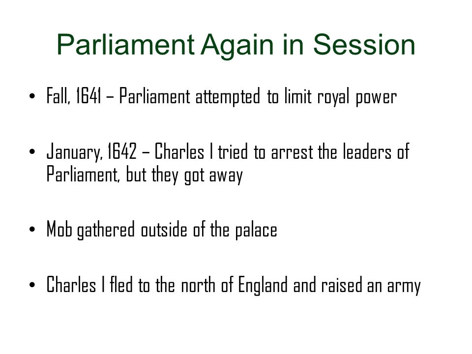 Parliament Again in Session