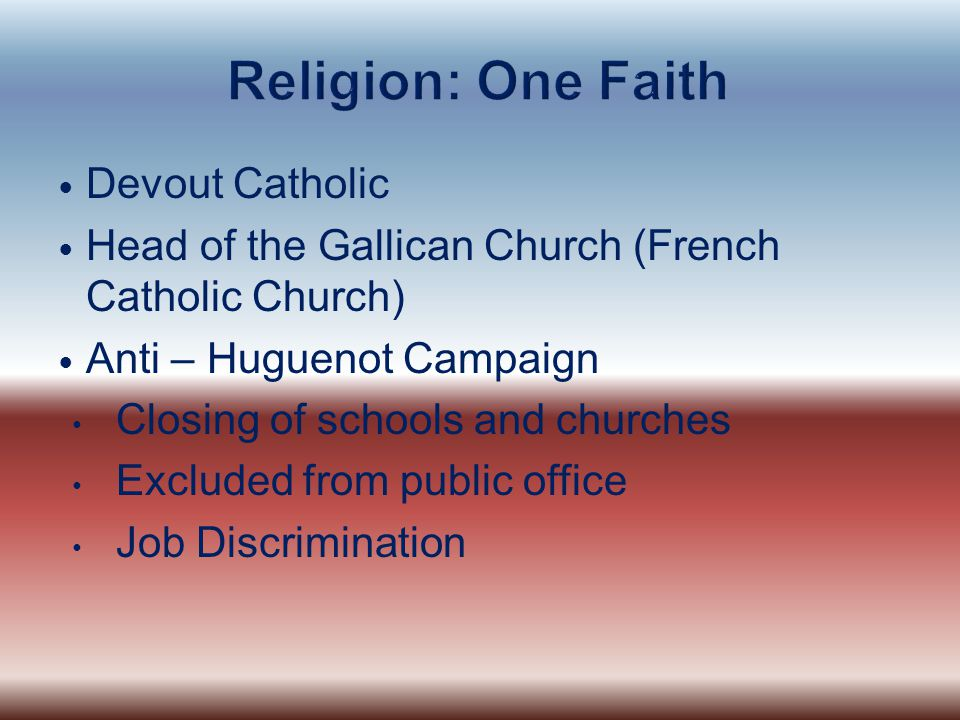 Religion: One Faith Devout Catholic