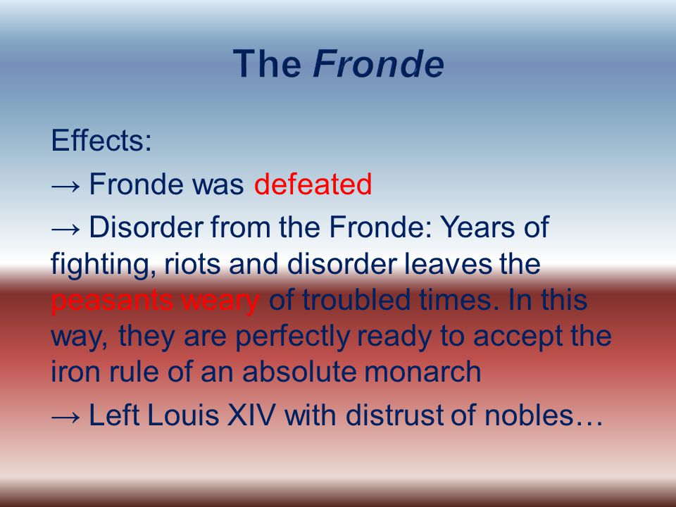 The Fronde