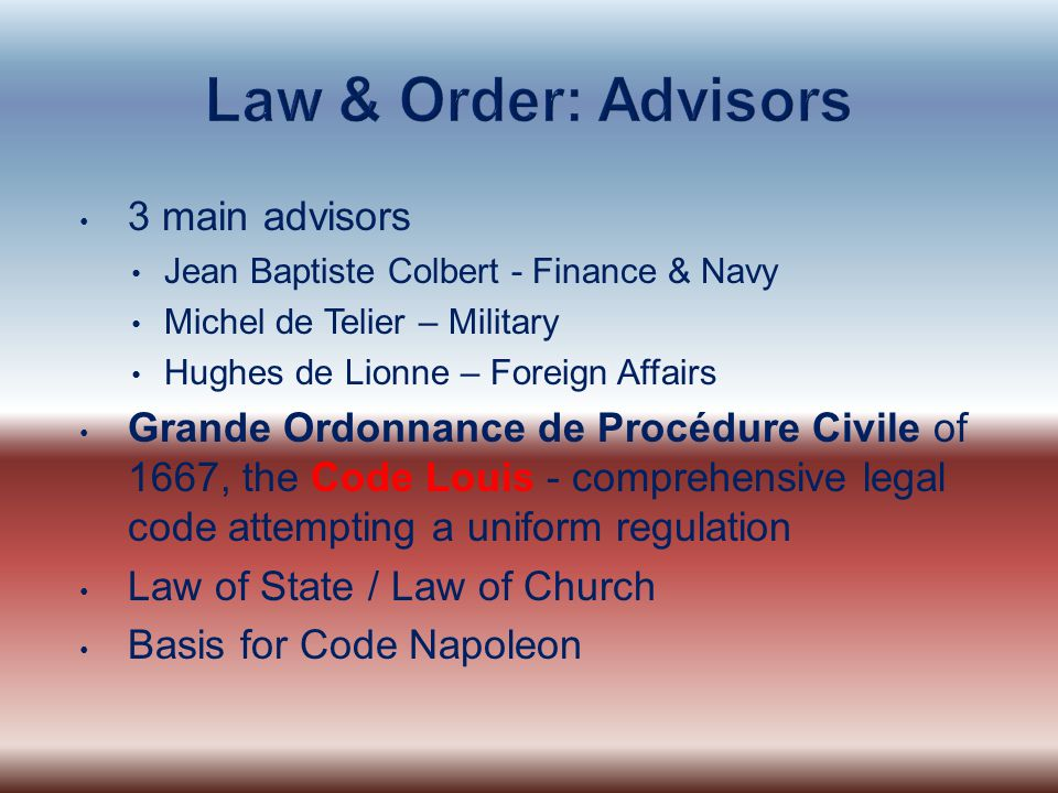 Law & Order: Advisors 3 main advisors