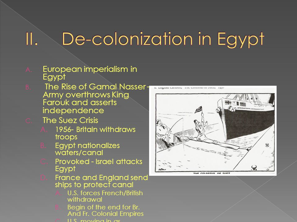 De-colonization in Egypt