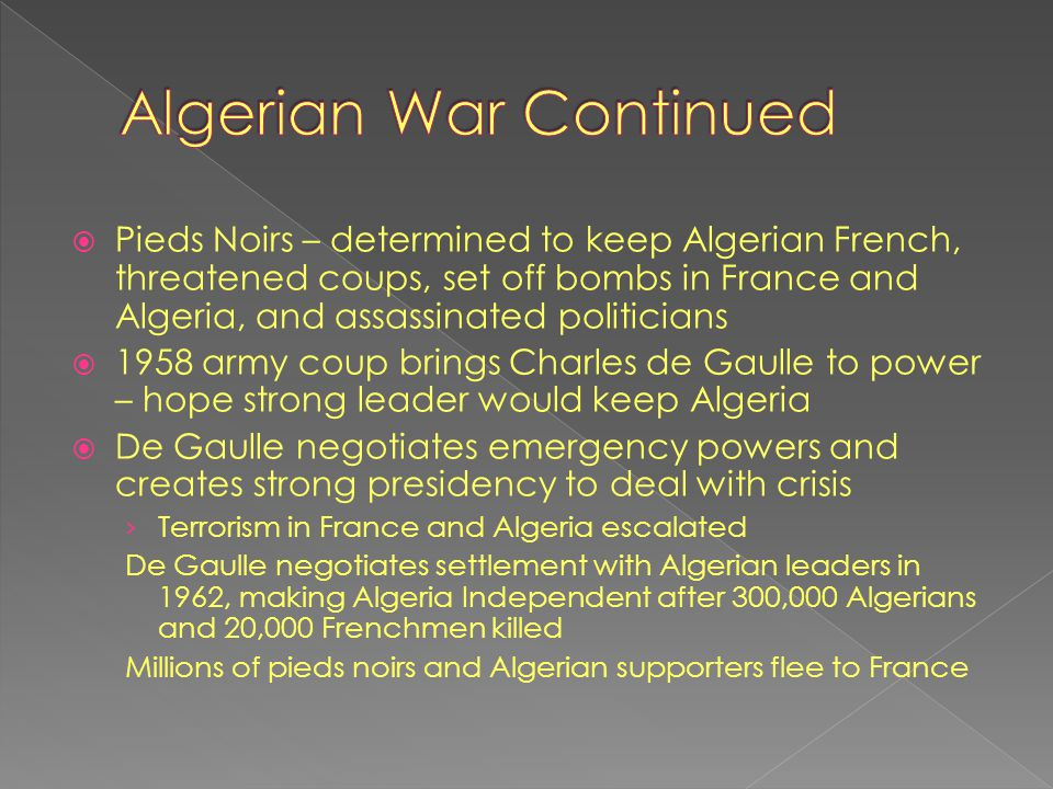 Algerian War Continued