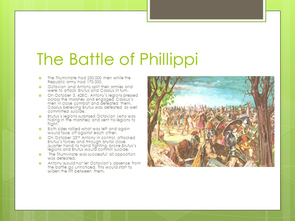 The Battle of Phillippi