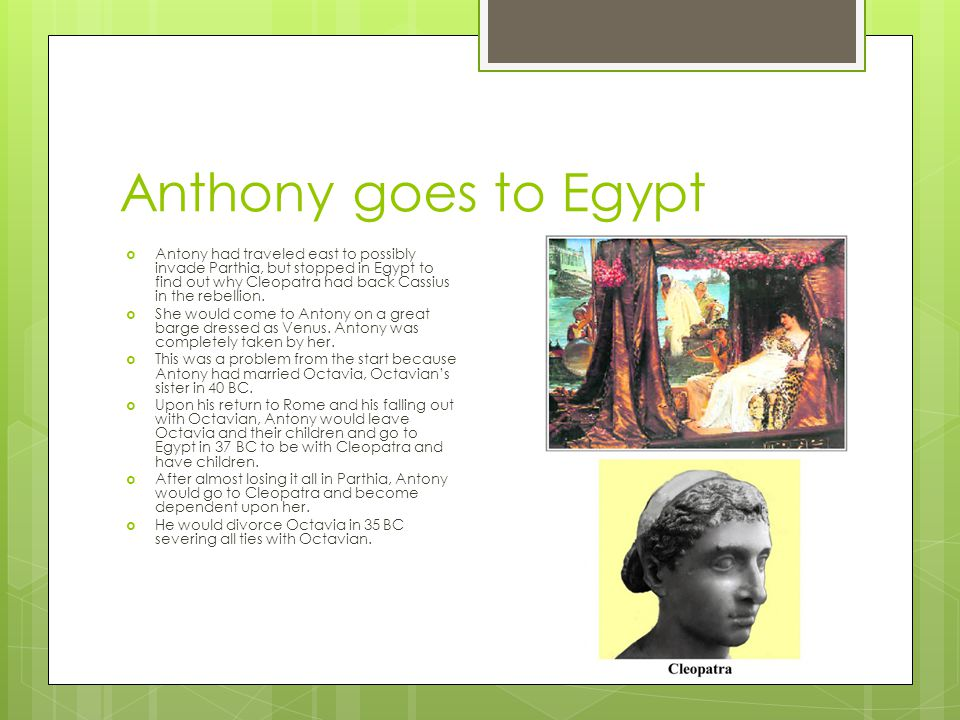 Anthony goes to Egypt