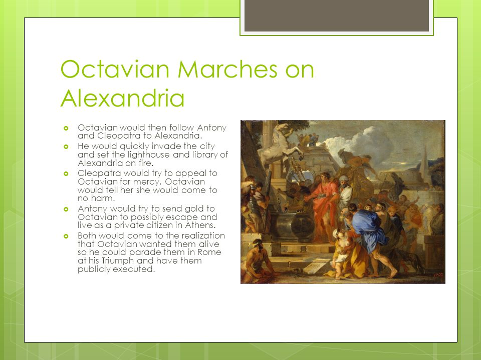 Octavian Marches on Alexandria