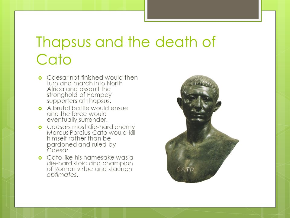 Thapsus and the death of Cato
