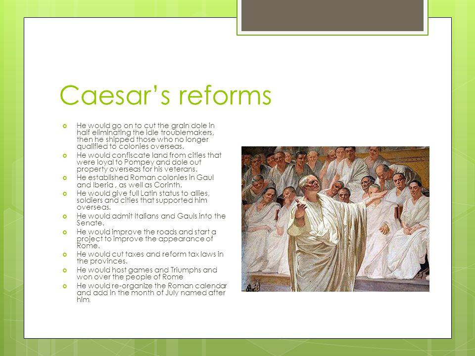 Caesar's reforms