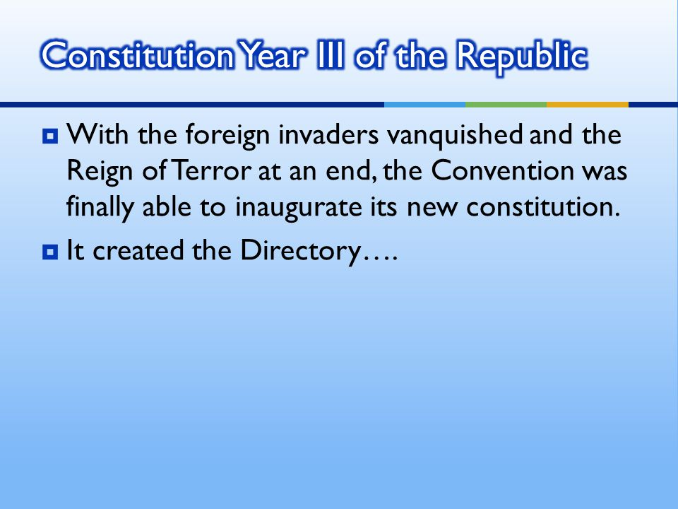 Constitution Year III of the Republic