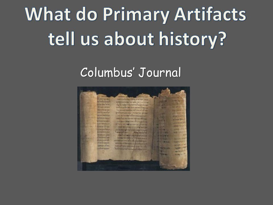 What do Primary Artifacts