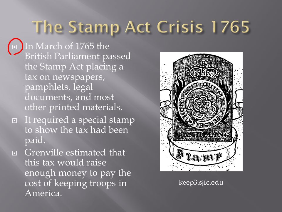The Stamp Act Crisis 1765