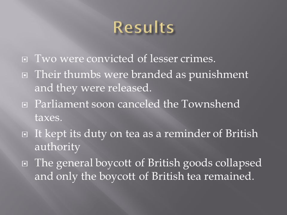 Results Two were convicted of lesser crimes.