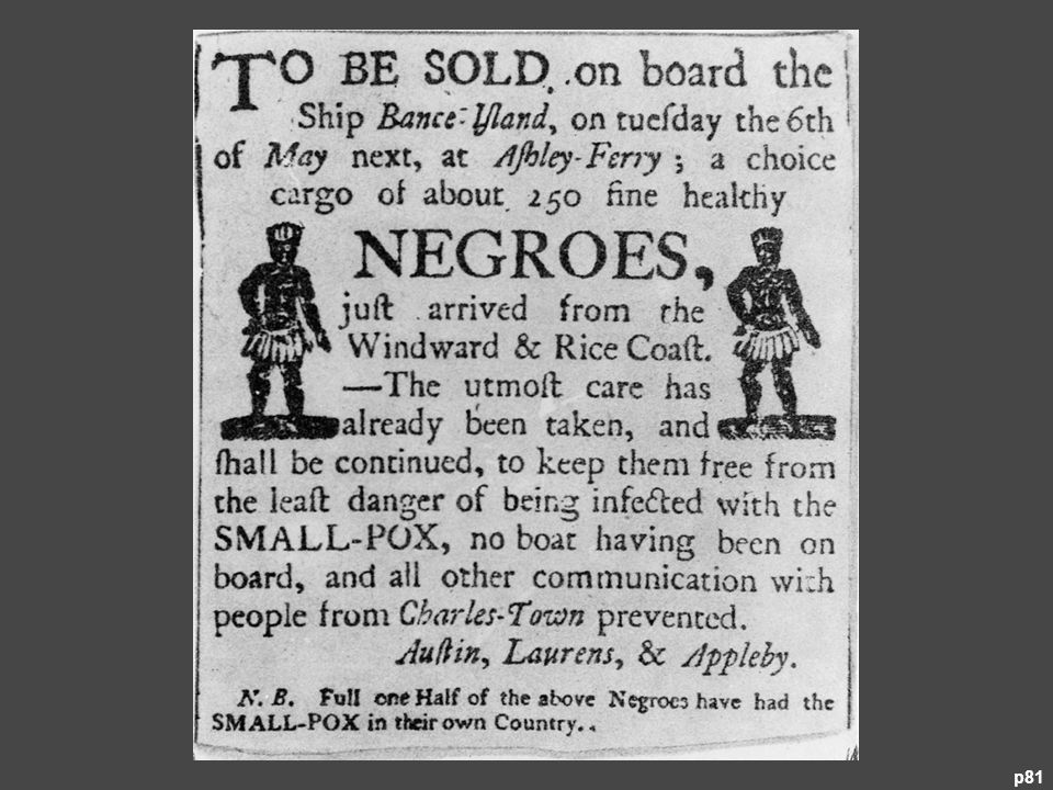 A South Carolina Advertisement for Slaves in the