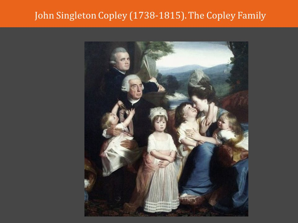 John Singleton Copley ( ). The Copley Family