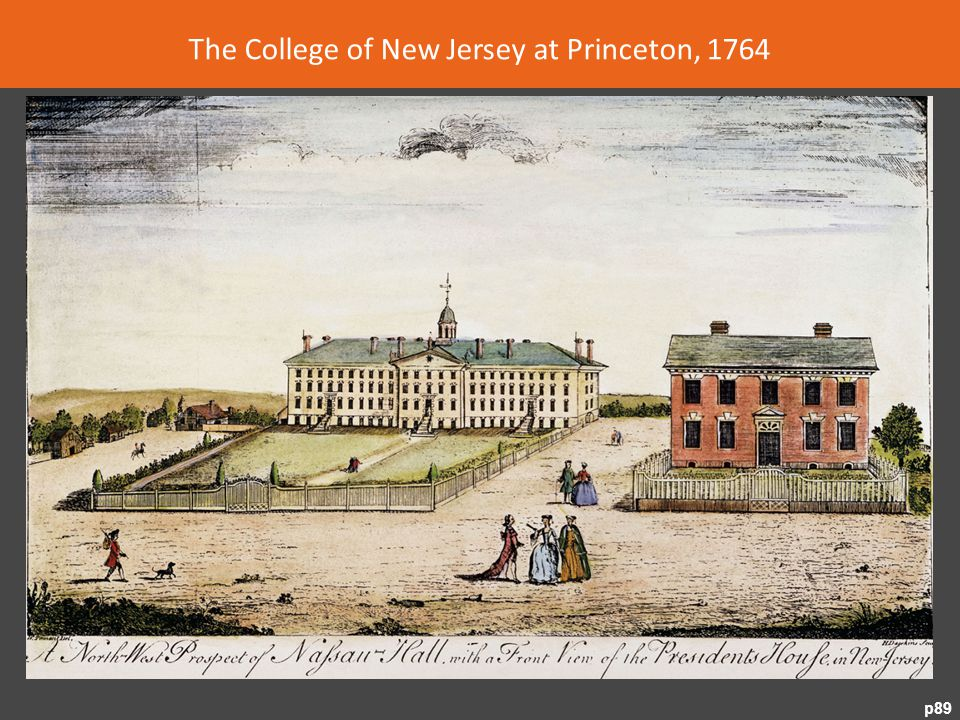 The College of New Jersey at Princeton, 1764