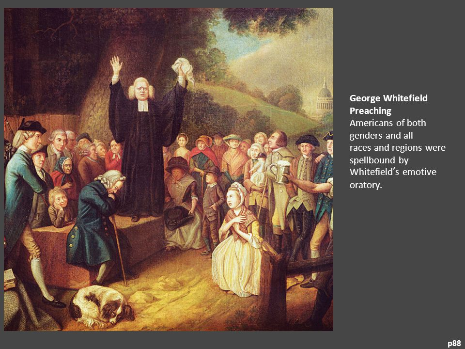 George Whitefield Preaching Americans of both genders and all