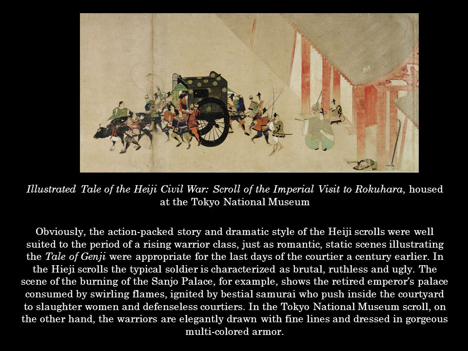 Illustrated Tale of the Heiji Civil War: Scroll of the Imperial Visit to Rokuhara, housed at the Tokyo National Museum
