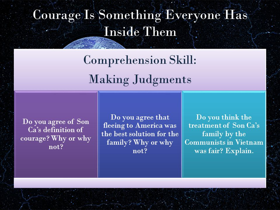 Courage Is Something Everyone Has Inside Them