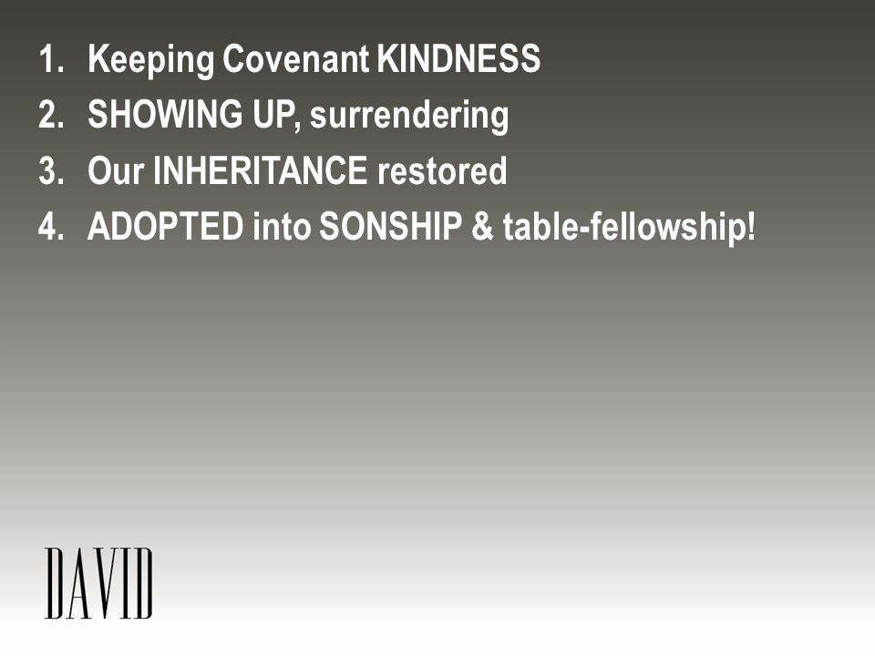 Keeping Covenant KINDNESS