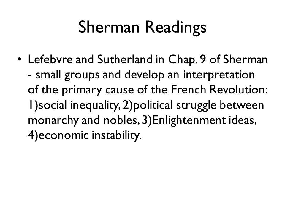 Sherman Readings