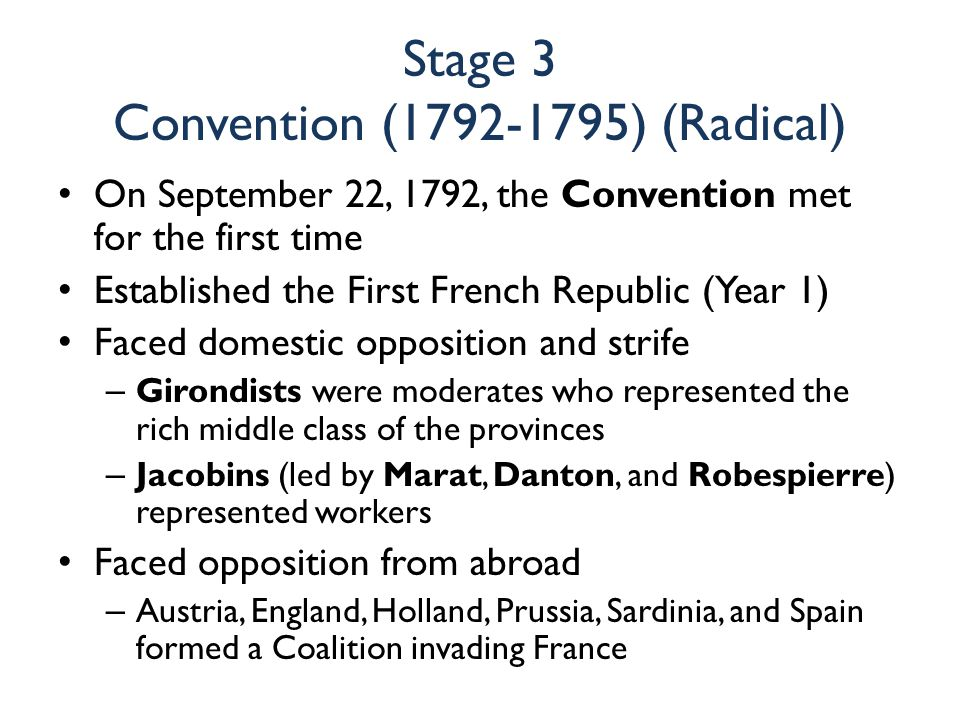 Stage 3 Convention (1792-1795) (Radical)