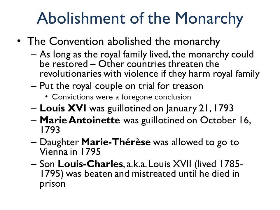 Abolishment of the Monarchy