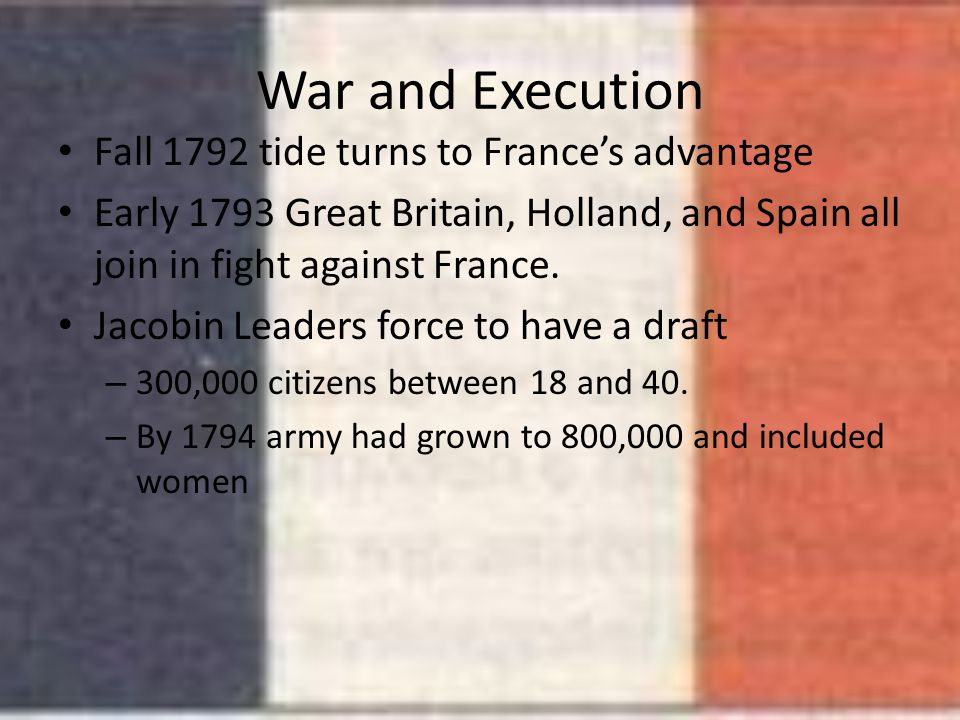 War and Execution Fall 1792 tide turns to France's advantage