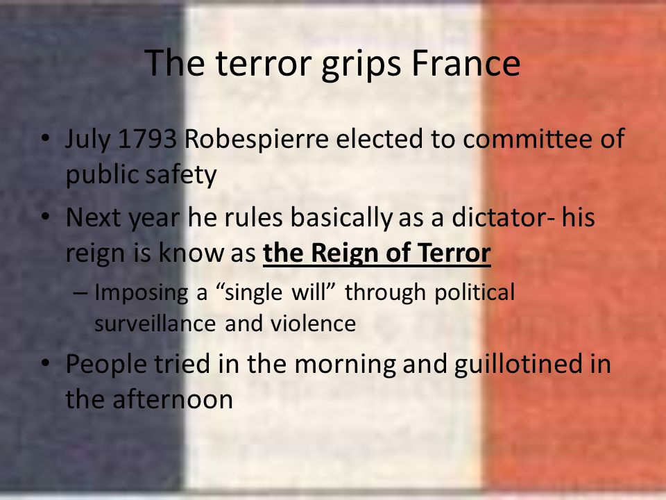 The terror grips France