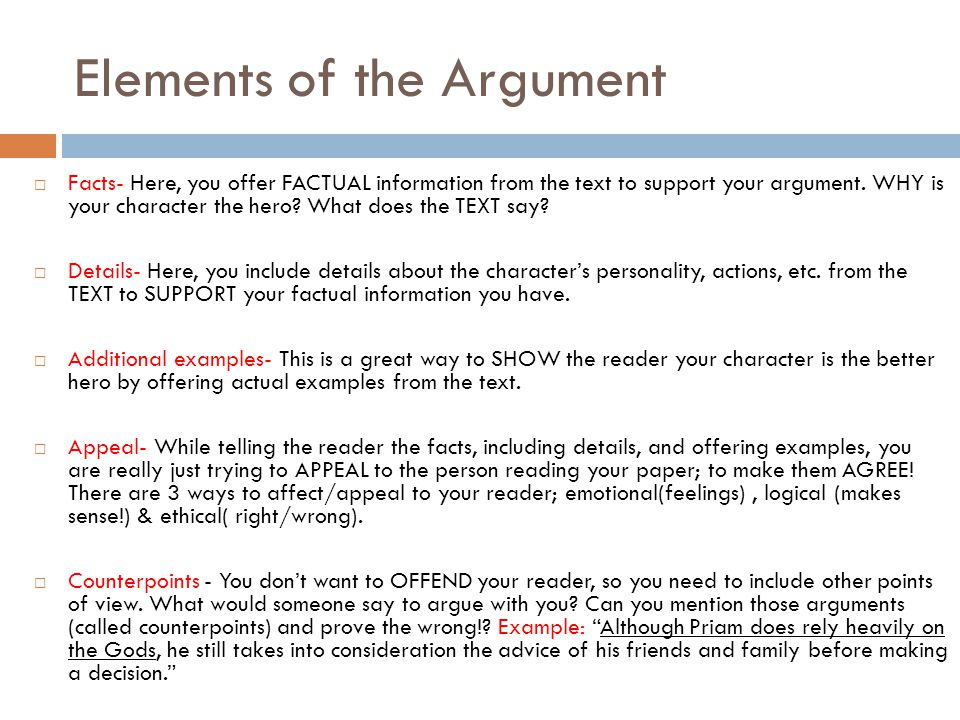 Components of an Argument