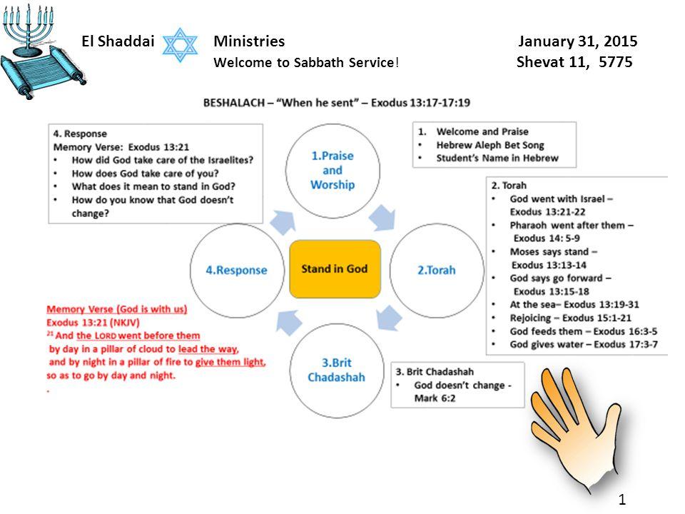 1 El Shaddai Ministries January 31, 2015