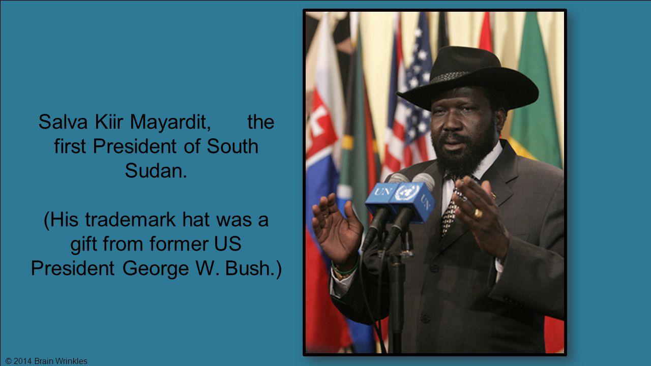Salva Kiir Mayardit, the first President of South Sudan.