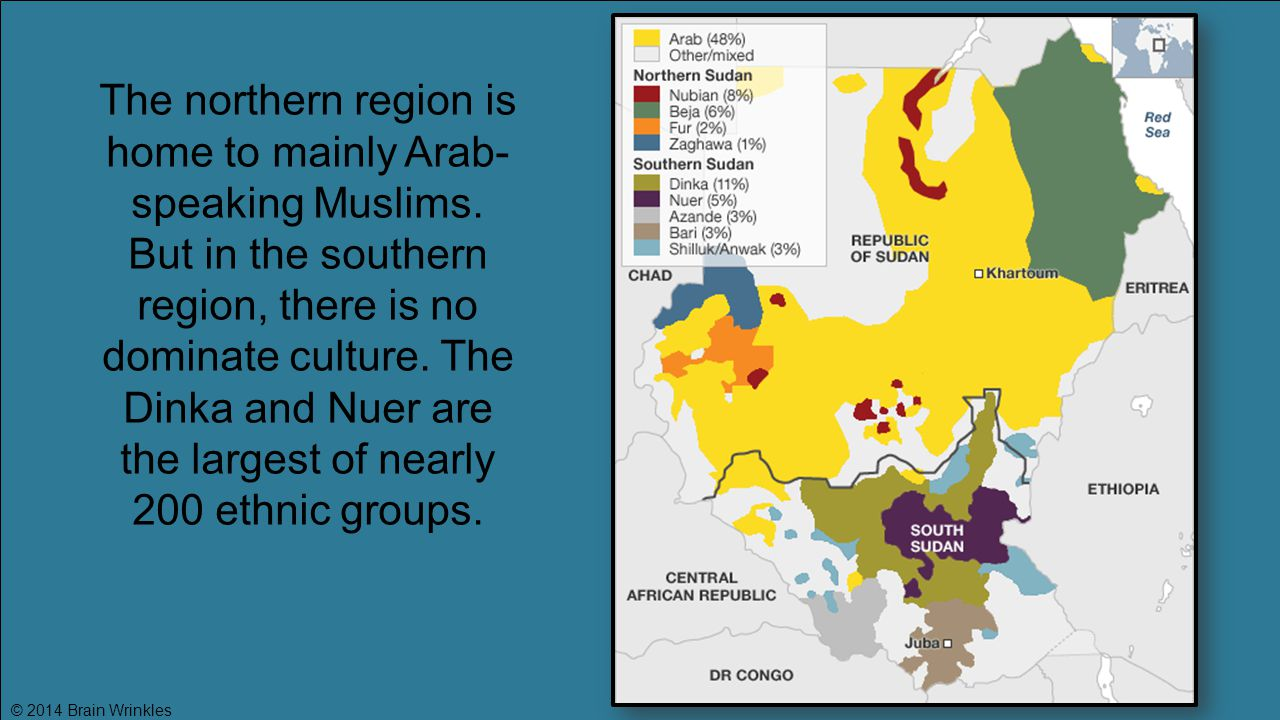 The northern region is home to mainly Arab-speaking Muslims