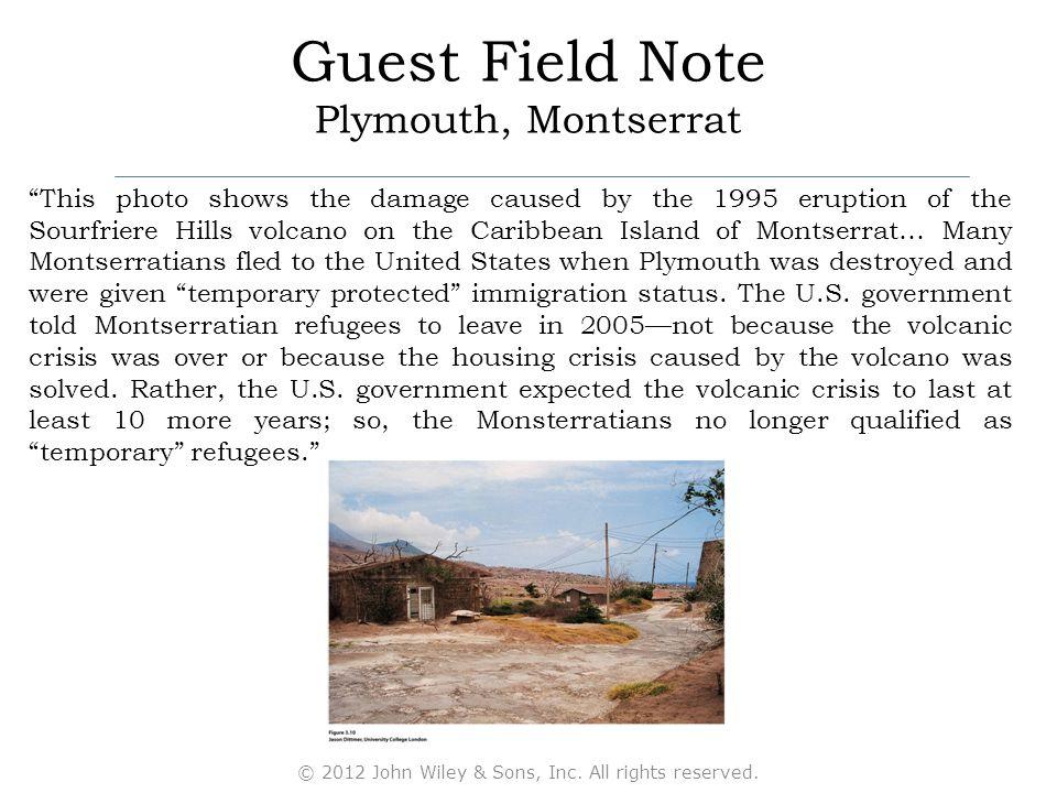 Guest Field Note Plymouth, Montserrat