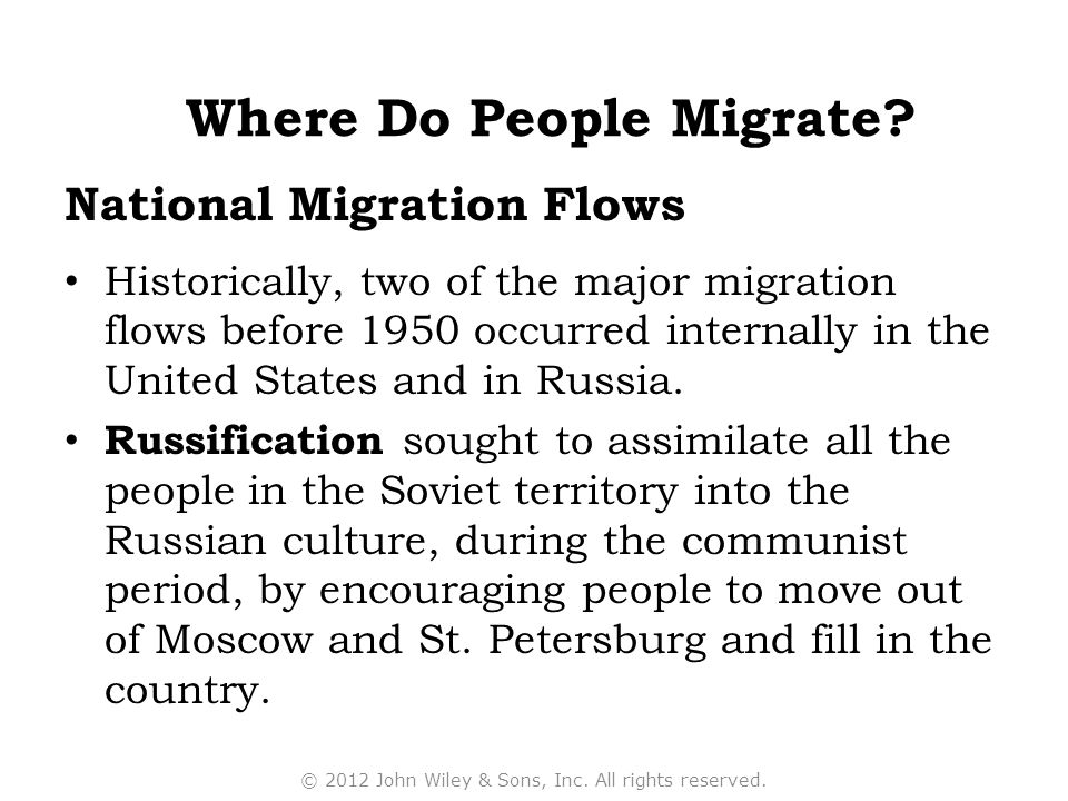 National Migration Flows