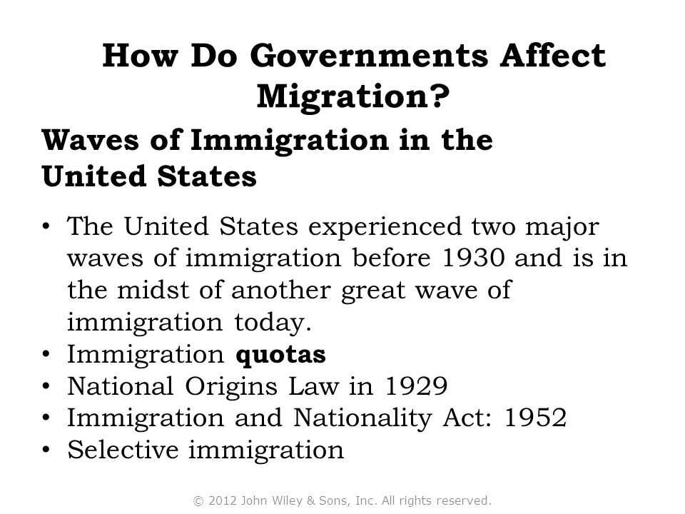 How Do Governments Affect Migration