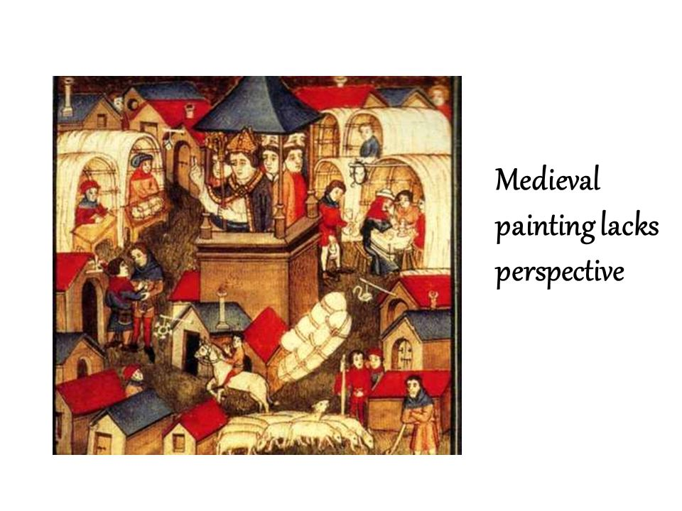 Medieval painting lacks perspective