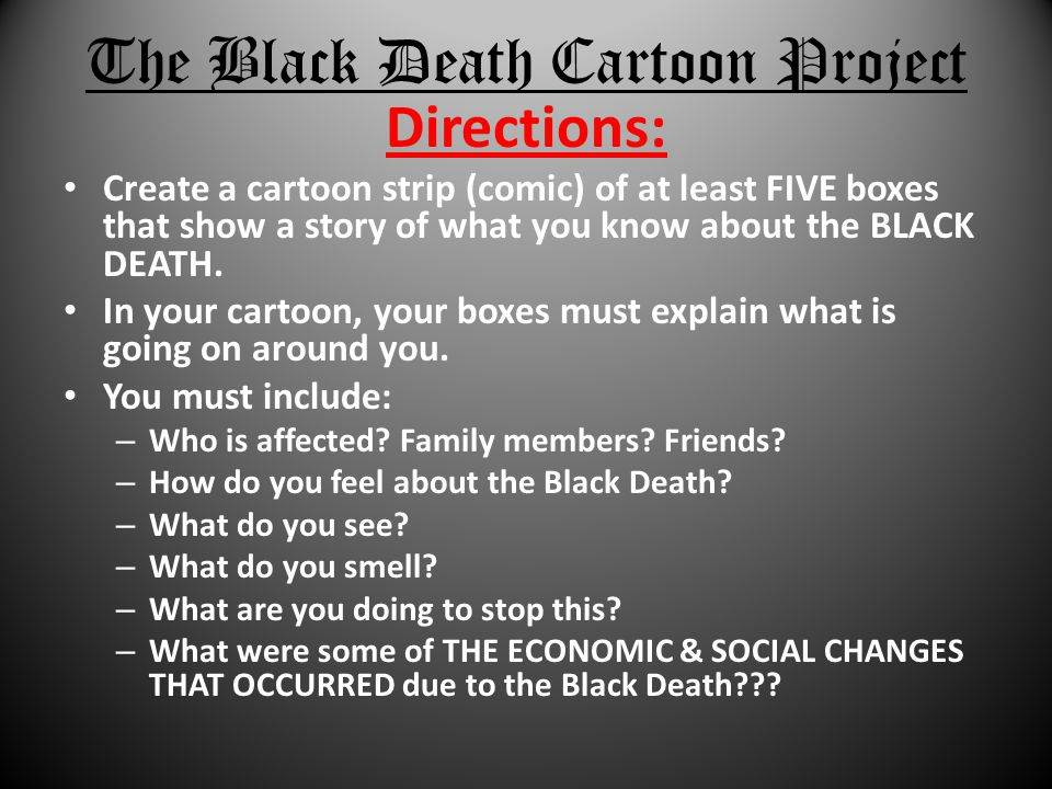 The Black Death Cartoon Project