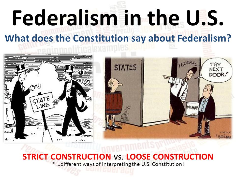 What does the Constitution say about Federalism