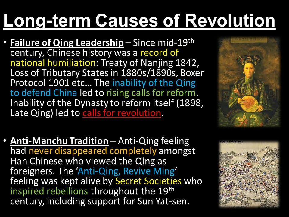 Long-term Causes of Revolution