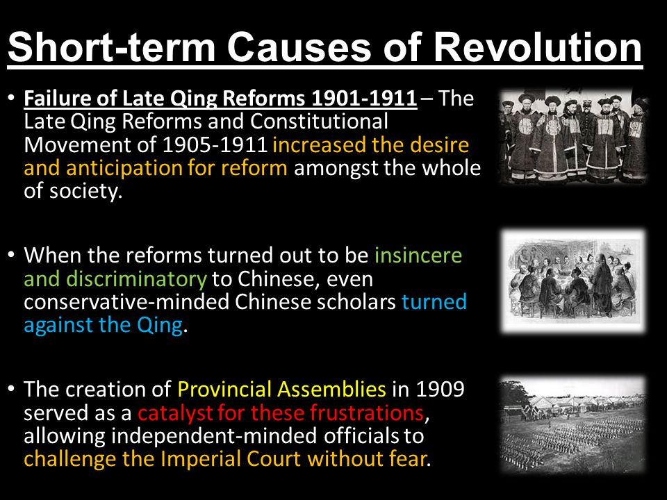 Short-term Causes of Revolution