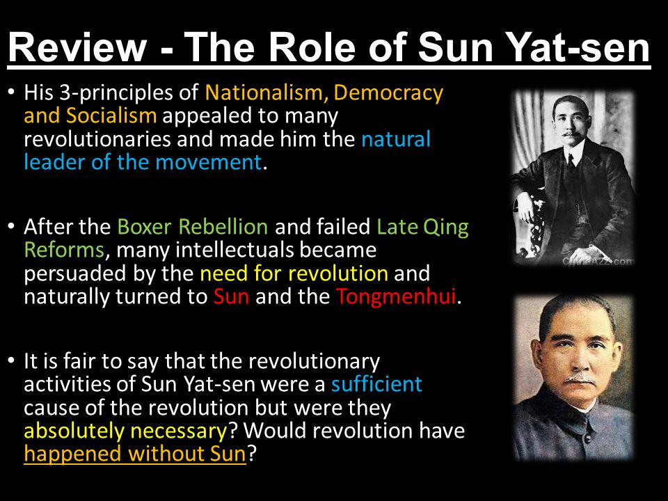 Review - The Role of Sun Yat-sen