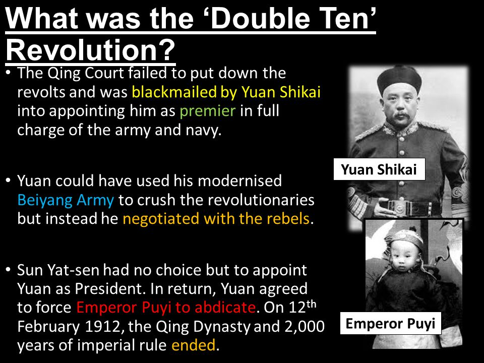 What was the 'Double Ten' Revolution