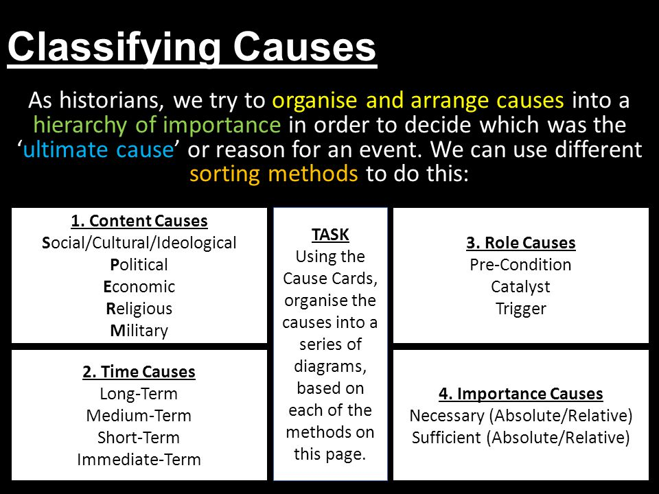 Classifying Causes