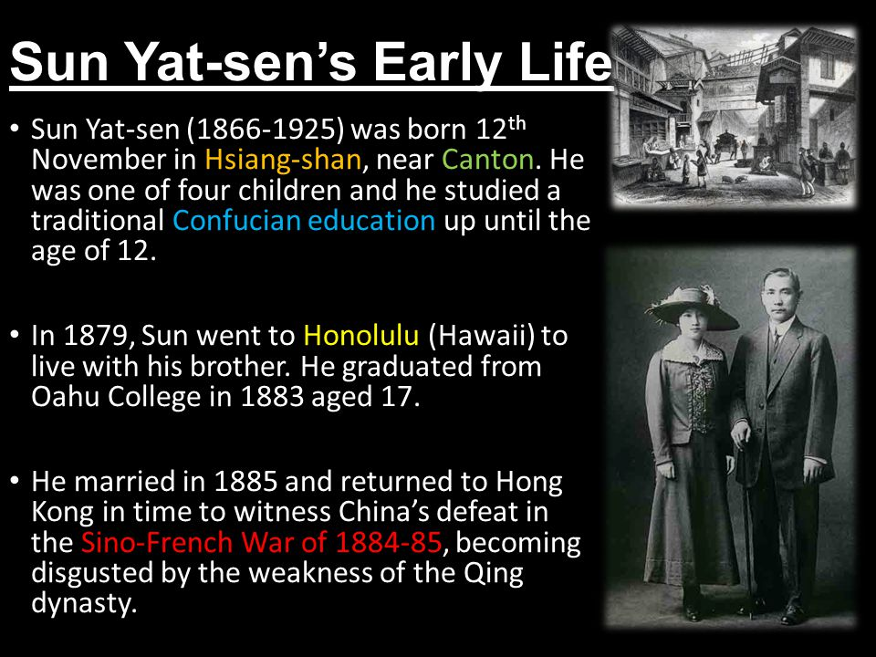 Sun Yat-sen's Early Life