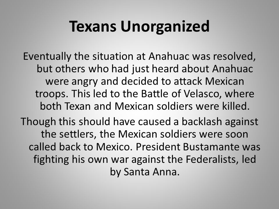 Texans Unorganized