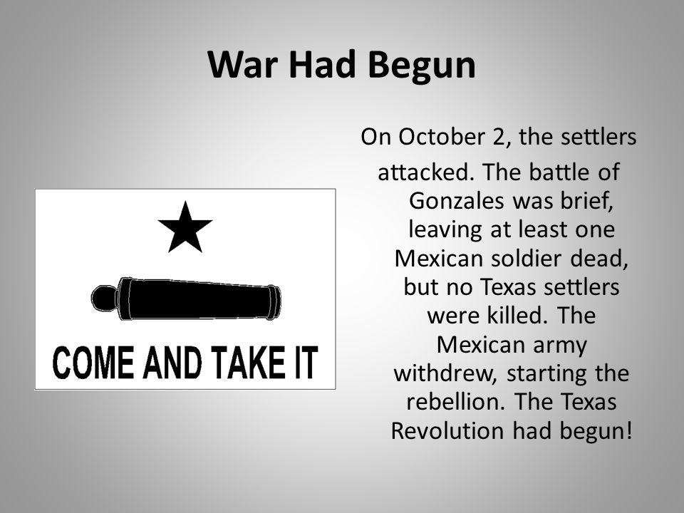 War Had Begun