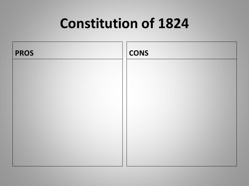 Constitution of 1824 PROS CONS