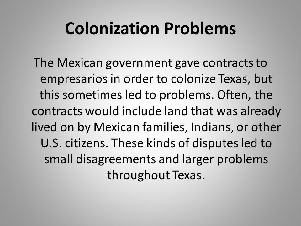 Colonization Problems